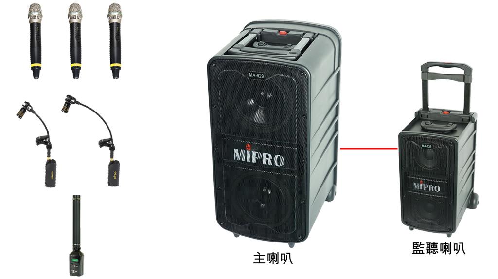 風吹音樂節薩克斯風大競賽 MIPRO MA-II系列無線擴音機應用範例