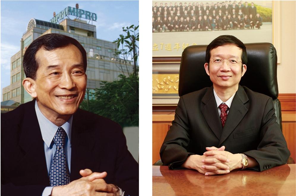 創辦人張洸照先生與董事長張仁正先生