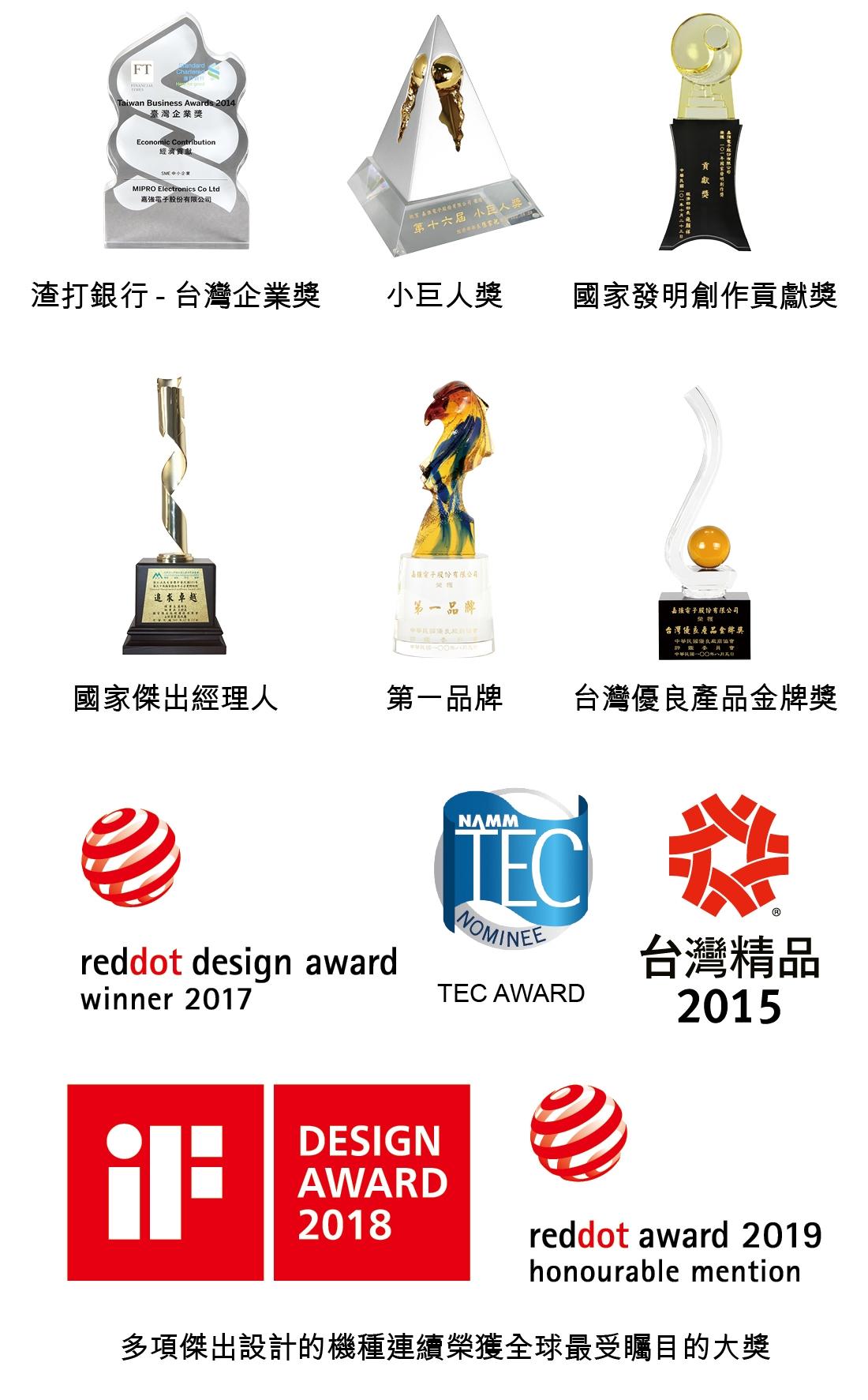 多項傑出設計的機種連續榮獲全球最受矚目的大獎